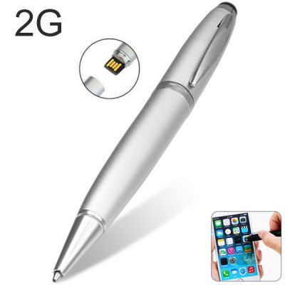 3 in 1 High Speed 2G Ball - point Touch Screen Pen USB Flash Drive U Disk Pen Drive Memory Stick for iPhone / Samsung / HTC