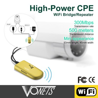 Фотография Vonets VAP11G-500 300Mbps Wireless Repeater for PC Camera TV WiFi Adapter 500 Meters Distance