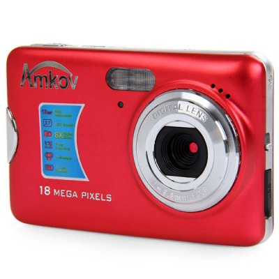 Amkov CDFE 18.0MP 2.7 inch TFT Screen 8X Digital Zoom Digital Camera Anti - shake 5.0MP CMOS Sensor High Resolution Video
