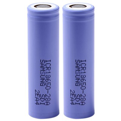 ICR18650 - 28A 3.7V 18650 2800mAh Rechargeable Lithium - ion Battery - 2 pcs