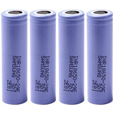 4 x  INR18650 - 29E 3.7V 18650 2900mAh Rechargeable Lithium - ion Battery