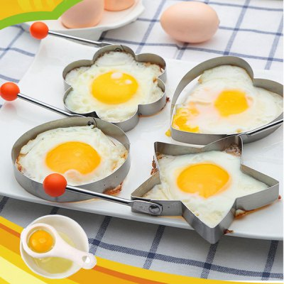 4pcs Stainless Steel Fried Egg Mold