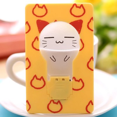 Ultra - slim Folding Card Lamp Funny LED Cartoon Image Pocket Bulb / Wallet Card Light Gift