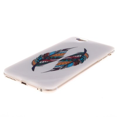 ФОТО Two Feathers Pattern TPU Protective Back Cover Case for iPhone 6 Plus  -  5.5 inch