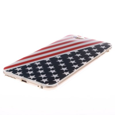 ФОТО Stars and Stripes Pattern TPU Protective Back Cover Case for iPhone 6 Plus  -  5.5 inch