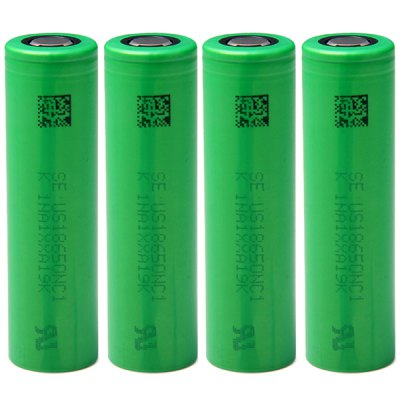 4 x  US18650NC1 18650 3.7V 2900mAh Rechargeable Li - ion Battery 10A Discharge