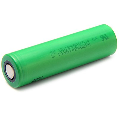 US18650VTC4 18650 3.7V 2100mAh Rechargeable Li - ion Battery 30A Discharge  -  2 pcsBatteries<br>US18650VTC4 18650 3.7V 2100mAh Rechargeable Li - ion Battery 30A Discharge  -  2 pcs<br><br>Type: Battery<br>Battery Type: Lithium-ion<br>Head Type: Flat Top<br>Rechargeable: Yes<br>Protected: No<br>Voltage(V): 3.7V<br>Max. Discharge Current: 30A<br>Suitable for: Flashlight,Digital Camera,Electronic Cigarette<br>Product weight: 0.044 kg<br>Package weight: 0.120 kg<br>Product size (L x W x H): 6.50 x 1.80 x 1.80 cm / 2.56 x 0.71 x 0.71 inches<br>Package size (L x W x H): 8.00 x 5.00 x 3.00 cm / 3.15 x 1.97 x 1.18 inches<br>Package Contents: 2 x  18650 Battery