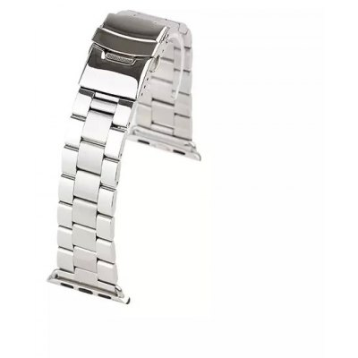 Folding Clasp Stainless Steel Watchband for Apple Watch 42mm