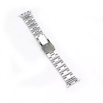 Stainless Steel Watchband Strap with Safety Folding Clasp Design for Apple Watch 42mm