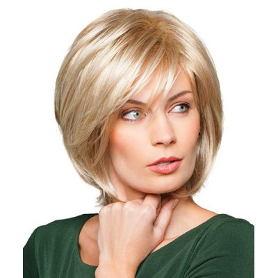 Trendy Fluffy Side Bang Charming Short Straight Human Hair Capless Wig For WomenMixed Hair Wigs<br>Trendy Fluffy Side Bang Charming Short Straight Human Hair Capless Wig For Women<br><br>Type: Full Wigs<br>Cap Construction: Capless<br>Style: Straight<br>Cap Size: Average<br>Material: Human Hair<br>Bang Type: Side<br>Length: Short<br>Occasion: Daily<br>Density: 130%<br>Length Size(CM): 26<br>Weight: 0.250KG<br>Package Contents: 1 x Wig