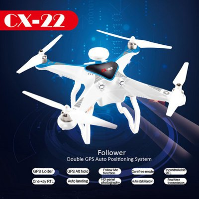 ФОТО Cheerson CX22 CX - 22 Follower 5.8GHz FPV1080P Camera Dual GPS RC Quadcopter Brushless Gimbal 3D Flip UFO RTF