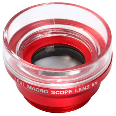 LIEQI LQ  -  006 Universal Macro 6X Fixed Focus Microscope Magnifier Mobile Camera Fisheye LensiPhone Lenses<br>LIEQI LQ  -  006 Universal Macro 6X Fixed Focus Microscope Magnifier Mobile Camera Fisheye Lens<br><br>Brand: LIEQI<br>Material: Metal<br>Material: Metal, Plastic<br>Magnification: 6X<br>Product weight: 0.007 kg<br>Package weight: 0.060 kg<br>Product size (L x W x H) : 2.5 x 2.5 x 1.7 cm / 0.98 x 0.98 x 0.67 inches<br>Package size (L x W x H): 17.5 x 9.5 x 5.0 cm / 6.88 x 3.73 x 1.97 inches<br>Package Contents: 1 x LIEQI LQ - 006 Marco 6X Fixed Focus Microscope Mobile Phone Camera Lens, 1 x Lens Hood, 1 x Univeral Lens Clip, 1 x Carry Pouch