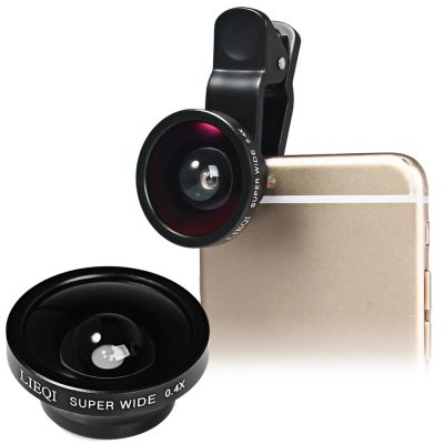 LIEQI LQ  -  002 Universal Clip - on 0.4X 140 Degree Super Wide Angle Lens