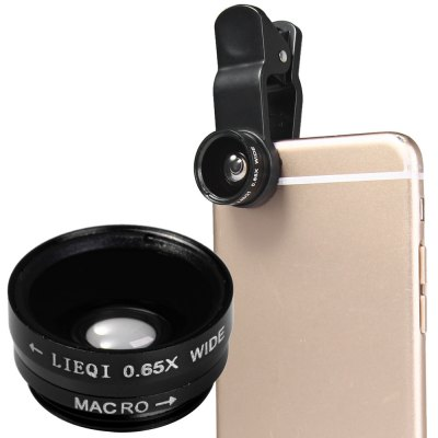 LIEQI LQ  -  65X 2 - in - 1 Macro 0.65X Wide Angle External Camera Lens