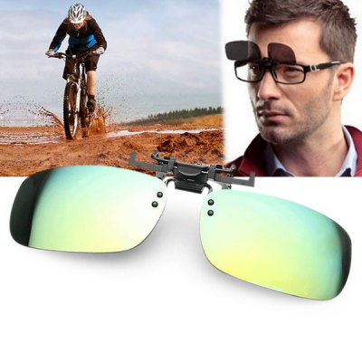 Anti - UV Square Sunglasses Clip Ultra - light Coating Myopia Glasses Clip for Cycling Driving Fishing