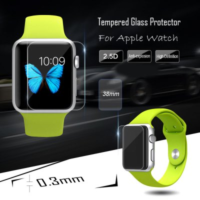 Tempered Glass Membrane Film Screen Protector for iWatch Apple Watch 38mm