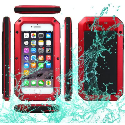 Aluminum Glass Metal Case for iPhone 6 6S