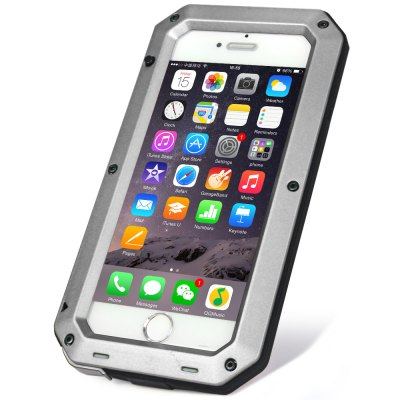 Waterproof Shockproof Dustproof Gorilla Glass Aluminum Metal Case for iPhone 6 6SiPhone Cases/Covers<br>Waterproof Shockproof Dustproof Gorilla Glass Aluminum Metal Case for iPhone 6 6S<br><br>Compatible for Apple: iPhone 6<br>Features: Dirt-resistant, FullBody Cases, Waterproof Case, Anti-knock<br>Material: Rubber, Aluminium, Metal<br>Style: Cool<br>Color: Gold, Silver, Black, Red<br>Product weight : 0.188 kg<br>Package weight : 0.278 kg<br>Product size (L x W x H): 15.7 x 8.3 x 1.0 cm / 6.17 x 3.26 x 0.39 inches<br>Package size (L x W x H) : 21.0 x 11.5 x 2.0 cm / 8.25 x 4.52 x 0.79 inches<br>Package contents: 1 x Aluminum Glass Metal Case for iPhone 6 6S, 1 x Hexagon Tool, 2 x Screw, 1 x Cleaning Cloth