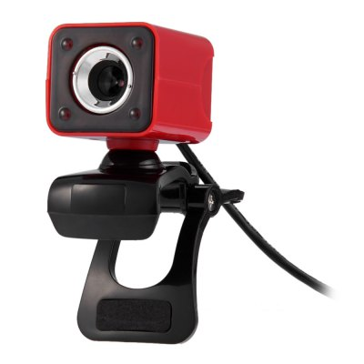Clip - on HD Web PC Camera USB Powered Webcam with 360 Degree Rotating for Computer