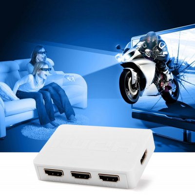 HDSW3  -  N 3 Inputs 1 Out HDMI Splitter / Switcher Support 3D 1080P for HDTV PSP