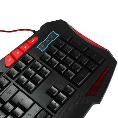 K7M 1.2m Cable USB Backlit Gaming Keyboard with 113 Keys for Laptop Desktop