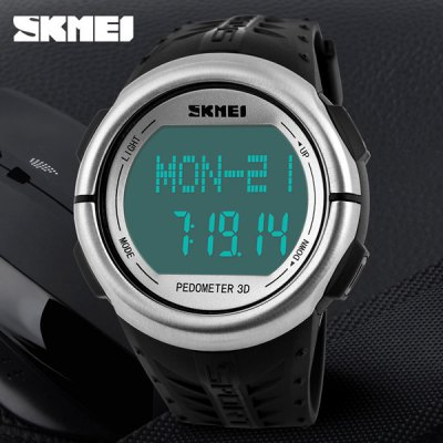 Skmei 1058 3D Pedometer LED Sports Watch