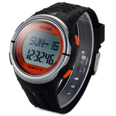 Skmei 1058 Multifunctional Heart Rate Tracking Watch Pedometer LED Wristwatch
