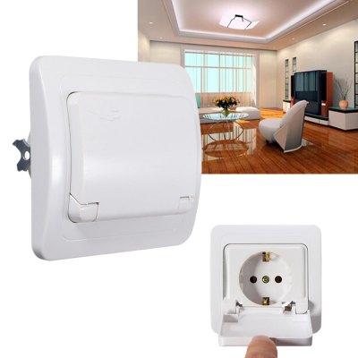 ФОТО Water Resistance Wall Socket Flame - resistant ABS Shell Adapter ( 110  -  250V 16A )