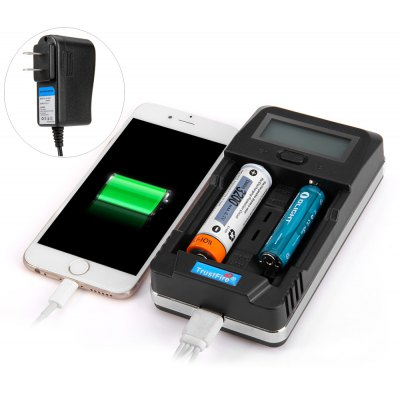 TrustFire TR - 011 Multi - use LCD Lithium Ni - MH Ni - Cd Battery Charger Power Bank with Dual Slots