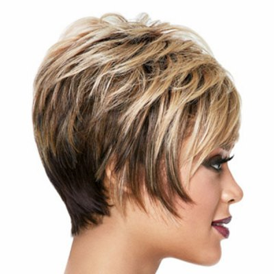 Towheaded Short Straight Side Bang Multi-Layered Heat-Resistant Capless Womens Ombre WigSynthetic Hair Wigs<br>Towheaded Short Straight Side Bang Multi-Layered Heat-Resistant Capless Womens Ombre Wig<br><br>Type: Full Wigs<br>Cap Construction: Capless<br>Style: Straight<br>Material: Synthetic Hair<br>Bang Type: Side<br>Length: Short<br>Length Size(CM): 30.48<br>Length Size(Inch): 12<br>Weight: 0.210KG<br>Package Contents: 1 x Wig