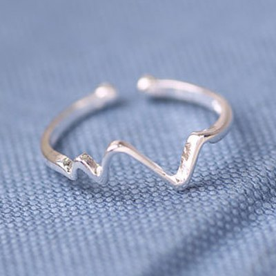 Chic Wavy Shape Design Ring For Women
