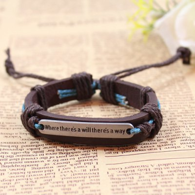 Фотография Modern English Letter Decorated Bracelet For Women