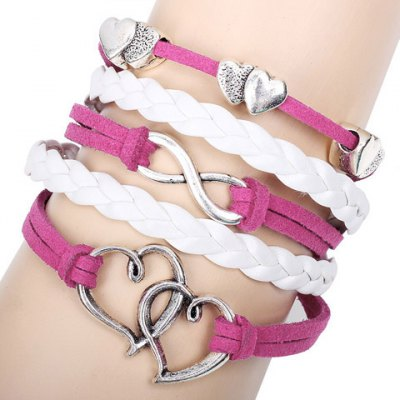 Cute Layered Openwork Heart Design Bracelet For Women