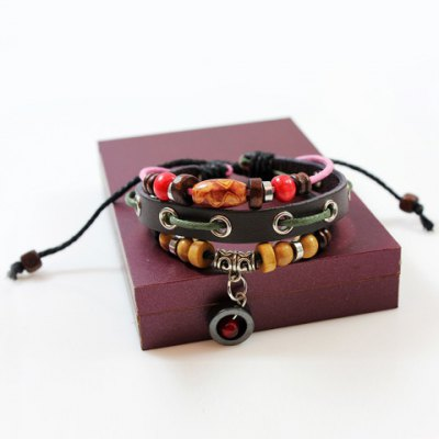 Cute Colored Beads Decorated Layered Bracelet For Women