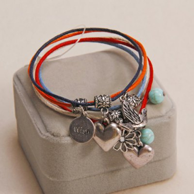 Characteristic Bohemian Retro Style Heart Shape Multi-Layered Bracelet For Women