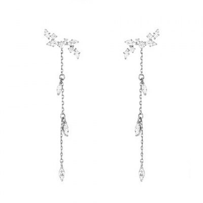 Pair of Delicate Leaf Rhinestone Decorated Earrings For WomenEarrings<br>Pair of Delicate Leaf Rhinestone Decorated Earrings For Women<br><br>Earring Type: Drop Earrings<br>Gender: For Women<br>Material: Rhinestone<br>Style: Trendy<br>Shape/Pattern: Plant<br>Length: 6cm<br>Diameter: 1cm<br>Weight: 0.035KG<br>Package Contents: 1 x Earring(Pair)