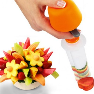 Pop Chef Fruit Cutter Food Salad Decorator Kit