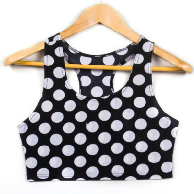 Trendy Scoop Neck Polka Dot Tank Top For Women