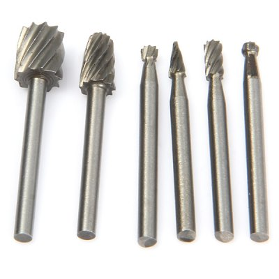WLXY 6PCS Tungsten Steel Alloy Rotary File Set