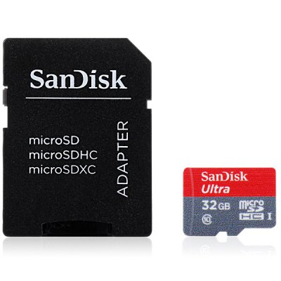 SanDisk Ultra microSDHC UHS-I 32GB Memory Card + Adapter