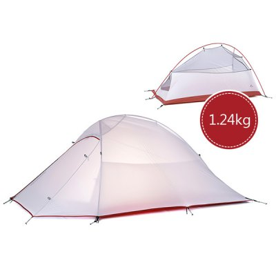 Naturehike NH15T002  -  T Professional Double Layer Camping Water Resistant Tent 20D 380T Silicone for 2 Persons