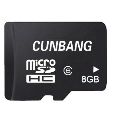 CUNBANG 8GB Class 6 Micro SD TF Memory Card for Android Cellphone