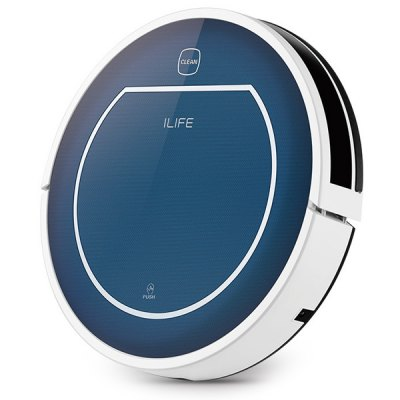 Refurbished ILIFE V7 Super Mute Sweeping Robot Home Vacuum Cleaner Dust Cleaning with 2600mAh Li - battery