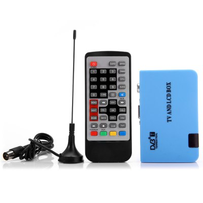 Stand - alone LCD DVB - T Receiver TV Tuner Recorder with VGA AV Output Interface  -  100  -  240VTV Box &amp; Mini PC<br>Stand - alone LCD DVB - T Receiver TV Tuner Recorder with VGA AV Output Interface  -  100  -  240V<br><br>Package Contents: 1 x VGA DVB-T TV Receiver, 1 x Power Adapter, 1 x English Manual, 1 x Remote Controller, 1 x Antenna, 1 x Audio Cable, 1 x RCA Cable<br>Package size (L x W x H): 15 x 13 x 5 cm / 5.90 x 5.11 x 1.97 inches<br>Package weight: 0.32 kg<br>Product size (L x W x H): 10 x 6.4 x 2.1 cm / 3.93 x 2.52 x 0.83 inches<br>Product weight: 0.286 kg