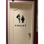 Small Size 0277 Decorative Toilet Sign Removable PVC Sticker for Home Living