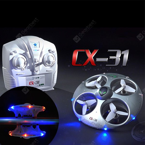 Cheerson CX-31 2.4GHz, 4Ch, 6 Axis Gyro, RC Quadcopter with Headless Mode (RTF)