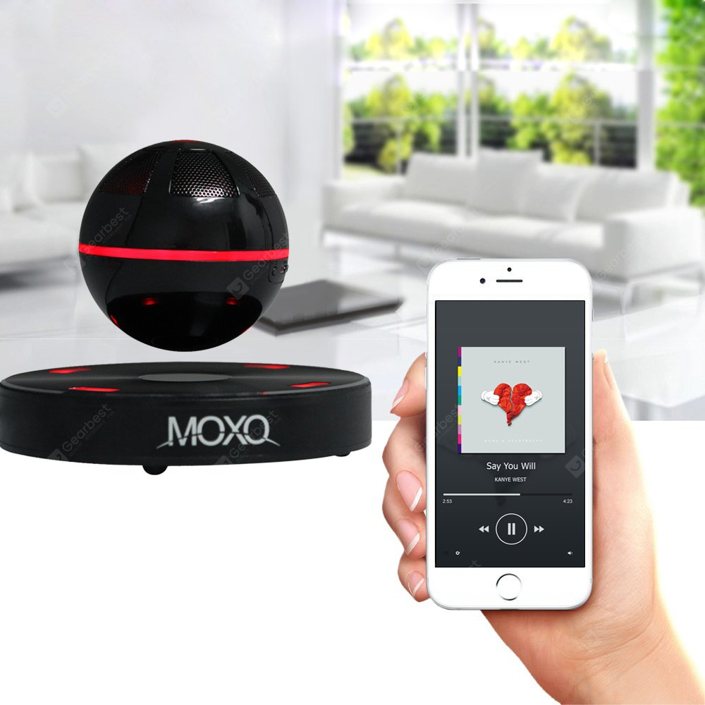 MOXO X - 1 Mini Bluetooth 4.1 Speaker Wireless Maglev 3D Music Player NFC Function MIXCOLOR