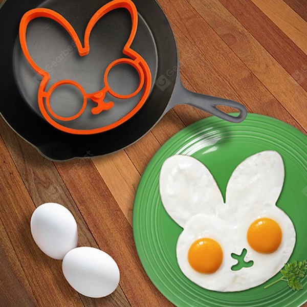 Lovely Egg Shaper Silicone Ring Moulds Creativity Health Frying Cooking Eggs Interesting Kitchen Gadgets