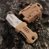 EDC Gear 2 Full Blade Webbing Buckle Design Outdoor Survival Knife with Strap