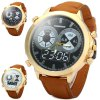cheap Shiweibao Nubuck Leather Band Male Quartz Watch with Decorative Sub - dials Big Dial